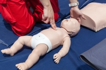 Infant CPR manikin first aid